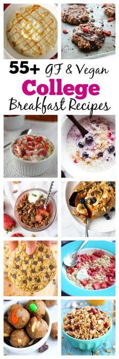 55+ Gluten-Free Vegan College Breakfast Recipes