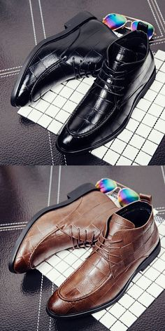 $28.98 <Click to buy> Men Genuine Leather Formal Ankle Boot
