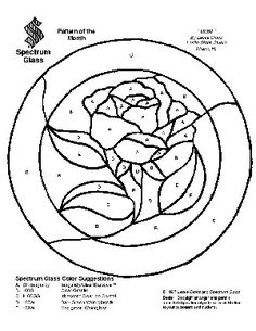 Free Stained Glass Pattern 2104-Rose