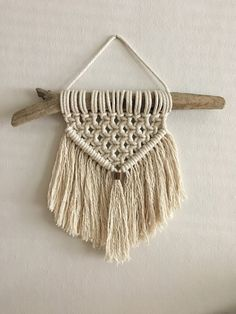 Antler and Driftwood Macramé Wall Hanging by MacramebyMichelle