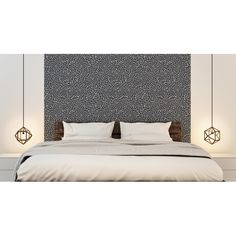 Colette wallpaper, sand and anthracite gray for a spectacular headboard. Bedroom Wall, Master Bedroom, Wall Colors, Wallpaper Headboard, Interior Design, Decoration, Inspiration, Furniture, France