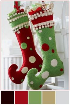 whoville inspired stockings