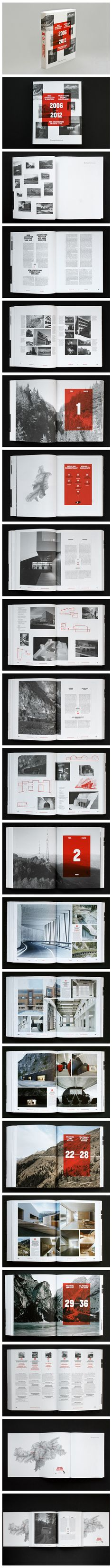 Book, Layout, Grid, Typography, New Architecture in South Tyrol 2006–2012, by ONLAB (Berlin)