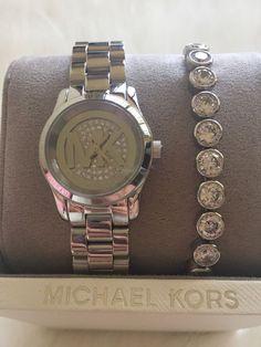 Michael Kors Petite Runway Watch & Bracelet Set Rose Gold MK3626 ...