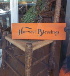 Harvest Blessing Wood Sign by mayberryprim on Etsy, $12.99