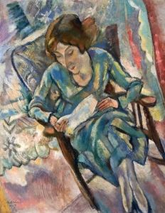 Girl in Green Reading - Jules Pascin - The Athenaeum ~Reppined via Ladonna