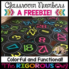 Classroom Numbers Back to School Freebie Calling all teachers! Anyone interested in some Back to School Freebies? We have 5 Back to School Freebies just for YOU! Classroom Freebies, 2nd Grade Classroom, New Classroom, Kindergarten Classroom, Teacher Freebies, Classroom Ideas, Neon Classroom Decor, Preschool Classroom Themes, Inclusion Classroom