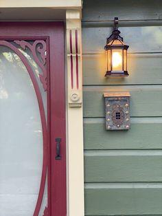 Exterior Light Fixtures, Exterior Lighting, Outdoor Wall Sconce, Outdoor Walls, Outside Lights On House, Diy Carport, Electrical Fixtures, Garden Stepping Stones, Ship Lap Walls