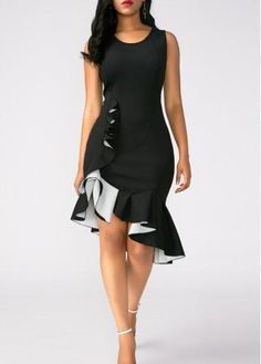 Visit Site To Get Your Discount Coupon [Offer End Date: - Peplum Hem Sleeveless Black Sheath Dress Tight Dresses, Sexy Dresses, Cute Dresses, Casual Dresses, Short Dresses, Spring Dresses, Black Dresses Online, Dress Online, African Dress