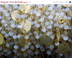 MOTHERS DAY SALE Moonstone Wire Wrapped Chain by jewelersparadise, $13.46