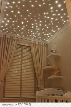 Star Ceiling - bad luck to the baby - I want this for my room! Every room in my house actually! My New Room, My Room, Dorm Room, Star Lights On Ceiling, Ceiling Stars, Glitter Ceiling, Dark Ceiling, Purple Ceiling, Nursery Decor