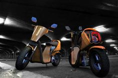 The EcoMoto bamboo motor scooter runs on air