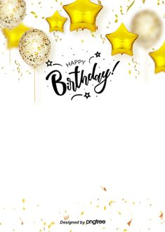 Golden Balloon Realistic Style Atmospheric Happy Birthday Background Card Creations Golden Balloon R Happy Birthday Font, Happy Birthday Template, Happy Birthday Posters, Happy Birthday Wallpaper, Happy Birthday Greeting Card, Happy Birthday Balloons, Happy Birthday Parties, Birthday Background Wallpaper, Happy Birthday Card Design