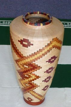 Segmented Wood Flower Vase #1