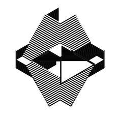 Raf Geysen, GESTALT, an axonometric drawing of a 'stairway cube'
