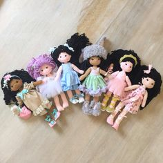 We come in all shapes and sizes . Crochet dolls