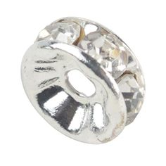 niceeshop(TM) 100 Pcs Kristall Gold Plattiert Zwischenperle Perle Spacer 8mm-Silbern - http://schmuckhaus.online/niceeshop/weiss-niceeshop-tm-1-sack-100pcs-kristall-rand-8mm