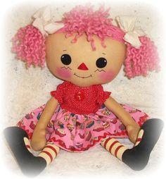 Rag Doll Pattern, Cloth Doll Pattern, Ragdoll,  Raggedy Ann Pattern, PDF Pattern, Sewing Pattern. $9.00, via Etsy.
