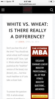 White Vs Wheat: Is There Really A Difference? - White Bread - Wheat Bread -  ➡️http://www.hovhustlefitness.com/health/white-vs-wheat-is-there-really-a-difference/⬅️ #health #fitness #weightloss #nutrition #diet #wellness