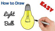 drawing easy bulb draw coloring drawings beginners simple