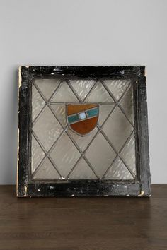 Vintage Crest Stained Glass Window Panel #vintage #urbanoutfitters #decor