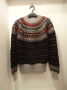 50~60's Abercrombie & Fitch Snowflake Pattern Wool Sweater