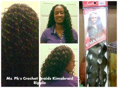 "Here it is ladies! Another Kimabraid Harlem 125 brand Ripple. This hair is comparable to the FreeTress Deep Twist. Client is wear Ripple 1b 20"". Hair installed by Ms. Pk #mskscrochetbraids #crochetbraids #protectivestyles Enjoy!"