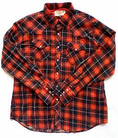 Size XL Youngbloods Authentic Western Wear Shirt, Red Plaid Flannel, Pearl Snaps. $19.99