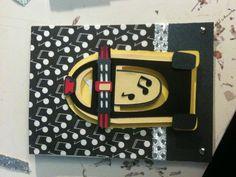 Handmade jukebox birthday card - cricut Nifty Fifties