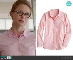 Kara's pink pin dot shirt on Supergirl Supergirl Outfit, Supergirl Dc, Fashion Tv, Fashion Outfits, Fasion, Kara Danvers Supergirl, Doctor Who Fan Art, Hollywood Dress, Melissa Benoist