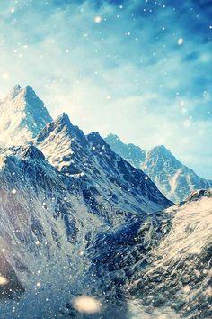 Mooie glinsteren bergen