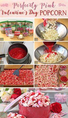 Perfectamente Día Popcorn rosa de San Valentín |  De OhNuts.com