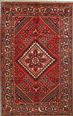 "Buy Bakhtiari Persian Rug 6' 11"" x 10' 9"", Authentic Bakhtiari Handmade Rug"