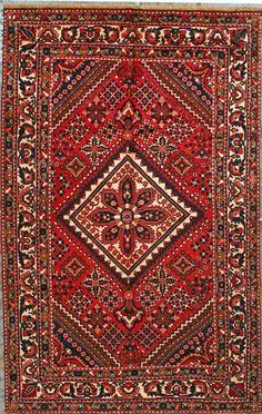 "Buy Bakhtiari Persian Rug 6' 11"" x 10' 9"", Authentic Bakhtiari Handmade Rug"