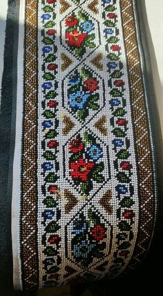 Embroidery Fashion, Beaded Embroidery, Embroidery Stitches, Bead Loom Patterns, Crochet Patterns, Cross Stitch Rose, Loom Beading, Crochet Lace, Needlepoint