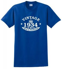 Vintage 1934 Aged to Perfection Seal 80th Birthday T-Shirt