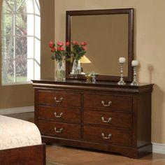 Alpine Furniture West Haven 6 Drawer Dresser - ALPE272