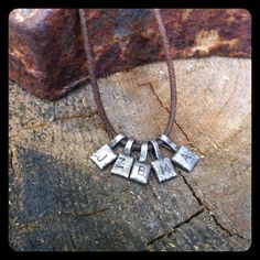 Tiny squares necklace by lizeatondesigns on Etsy