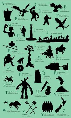 Alfabeto Senhor dos Anéis | Complexo Geek