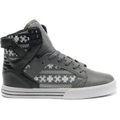 Supra Skytop Black Teal White High Tops for Men
