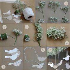 Varal de pássaros e mosquitinhos