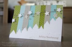 ribbon and star card - lovely and would maybe work for a man's card too