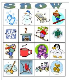 Bingo - great idea for classroom Christmas party activity