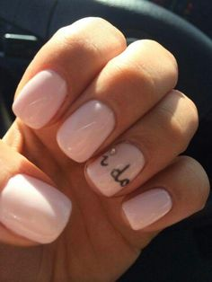 Maybe a french manicure with that