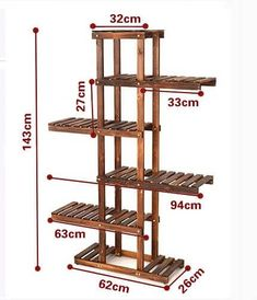 Useful Standard Shelf Dimensions - Engineering Discoveries Wooden Plant Stands, Diy Plant Stand, Outdoor Plant Stands, Garden Shelves, Plant Shelves, Wood Projects, Woodworking Projects, Small Bathroom Paint Colors, House Plants Decor