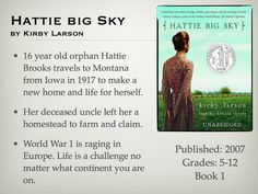 Young Adult Reading Machine: Hattie big Sky by Kirby Larson