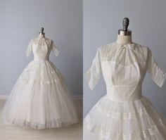 1950s Wedding Dress by TheVintageMistress