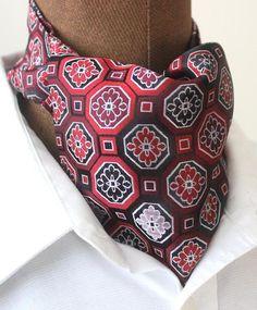 Schals - Krawattenschal,Ascot,Ascotkrawatte,rot,Retro - ein Designerstück von sweet-magnolia bei DaWanda