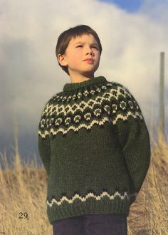 boys kids icelandic sweater, scan from original istex lopi knitting pattern, fuzzy fluffy childs childrens lopapeysa nordic Cute Boys, Kids Boys, Icelandic Sweaters, Boho Baby, Kind Mode, Knitted Hats, Knitwear, Knitting Patterns, Men Sweater