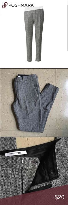 NWT Carine Roitfeld X Uniqlo wool blend pants Carine Roitfeld X Uniqlo wool blend pant Size 4 (small) NWOT.  Slim fit. Gray.  4 pockets styling.  Shell: 50% wool 40% rayon 10% polyester  Lining: 100% polyester  Wool pants with a sleek and stylish feminine silhouette .  The new collection in collaboration with the leading global fashion icon Carine Roitfeld. Curvy and attractive.  Currently unavailable in store... Uniqlo Pants Trousers